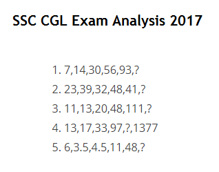SSC CGL Exam Analysis 2017