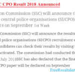 SSC CPO Result 2018