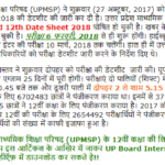 UP Board 12th Time Table 2018