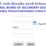 CBSE 10th Results 2018 School Wise
