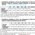 SSC CGL Tier 1 Result 2018 PDF Download यहाँ देखे Cut Off Marks Name Wise