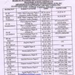 TS SSC Time Table 2018