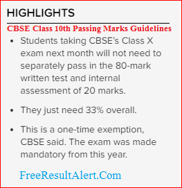 cbseresults nic in passing marks highlights
