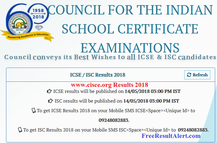 www.cisce.org Results 2018