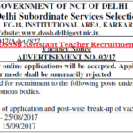 DSSSB Assistant Teacher Recruitment 2018