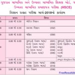 gseb hsc time table 2018