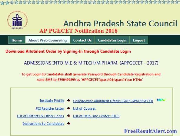 AP PGECET Notification 2018