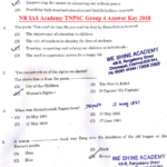 NR IAS Academy TNPSC Group 4 Answer Key 2018