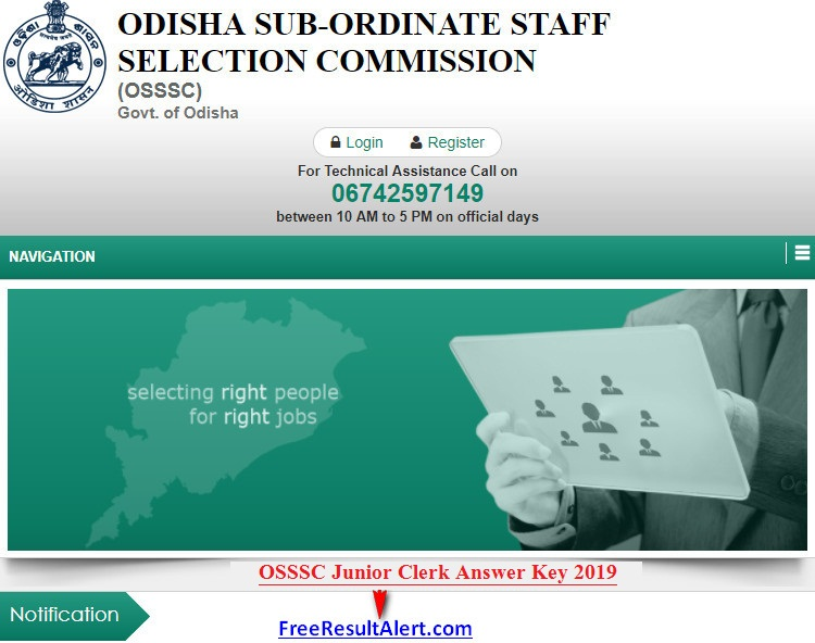 OSSSC Junior Clerk Answer Key 2019