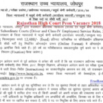 Rajasthan High Court Peon Vacancy 2018