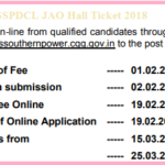 TSSPDCL JAO Hall Ticket 2018