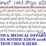Telangana Health Department Recruitment 2018