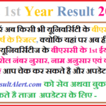 BSc 1st Year Result 2018