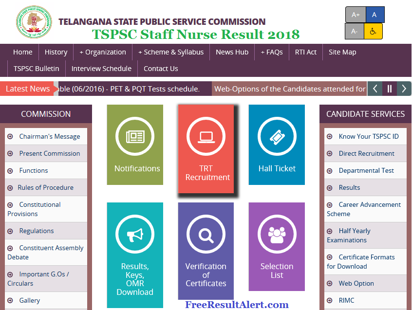 TSPSC Staff Nurse Result 2018
