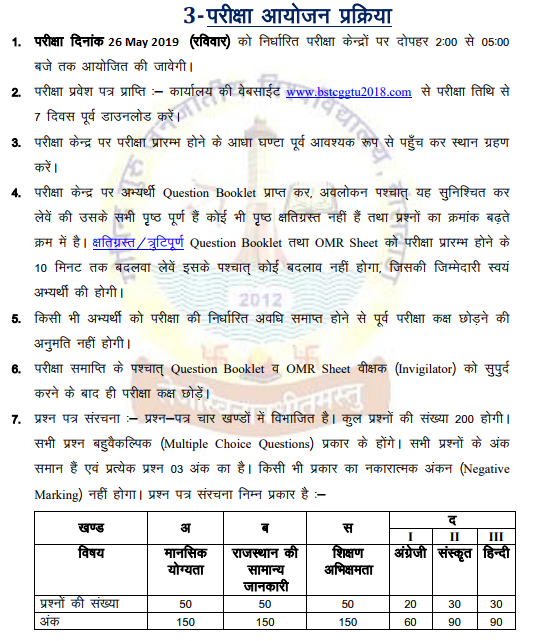 BSTC Application Form 2019