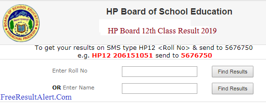 HP Board 12th Class Result 2019