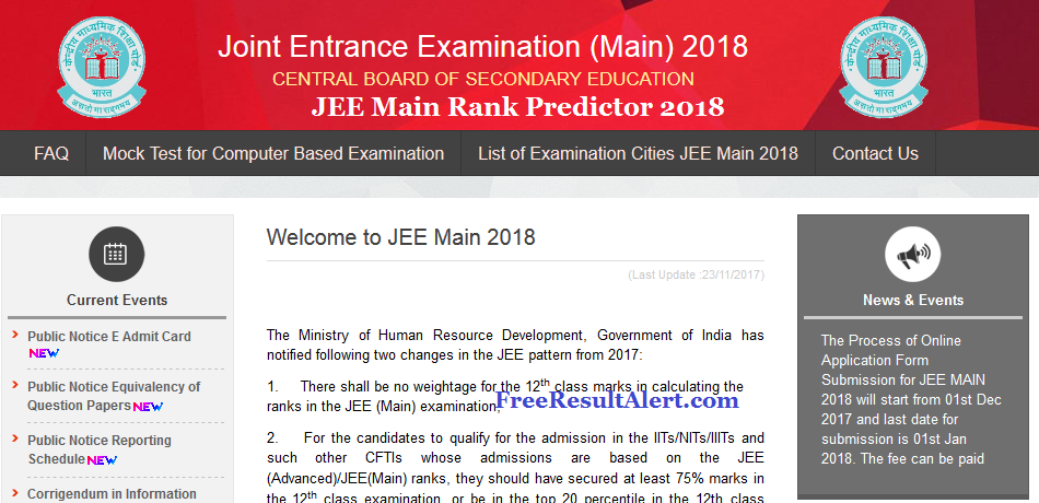 JEE Main Rank Predictor 2018