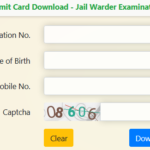 Jail Prahari Admit Card 2018