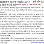 results.cg.nic.in 10th Result 2018