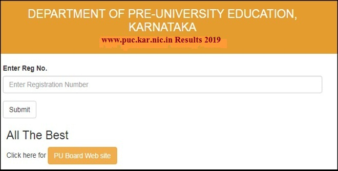 www.puc.kar.nic.in Results 2019