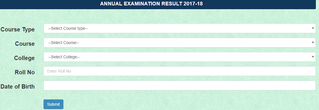 MGKVP BA 1st Year Result 2018