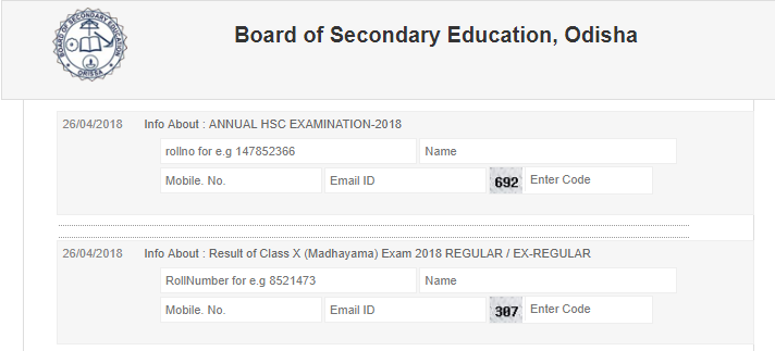 www.orissaresults.nic.in 10th Result 2018