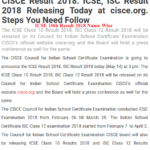 ICSE 10th Result 2018 Name Wise