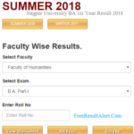 Nagpur University BA 1st Year Result 2018