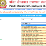 Shekhawati University BSc 2nd Year Result 2018
