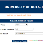 UOK BA 3rd Year Result 2018