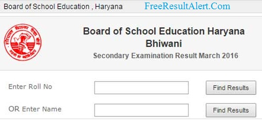 www.bseh.org.in 10th Result 2019