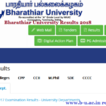 Bharathiar University Results 2018