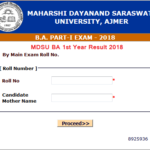 MDSU BA 1st Year Result 2018