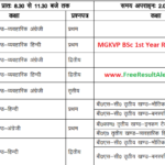 MGKVP BSc 1st Year Result 2018