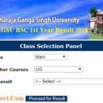 MGSU BSC 1st Year Result 2018
