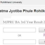MJPRU BA 3rd Year Result 2019