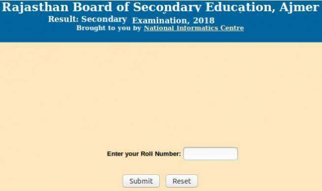 RBSE 10th Supplementary Result 2018