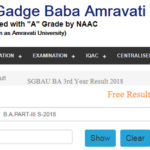 SGBAU BA 3rd Year Result 2018