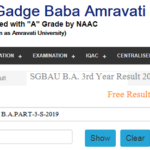 SGBAU BA 3rd Year Result 2019