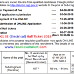 TSNPDCL SE Hall Ticket 2018 Download