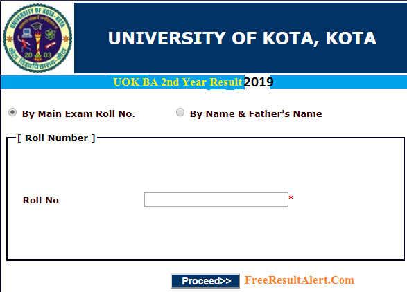 UOK BA 2nd Year Result 2019