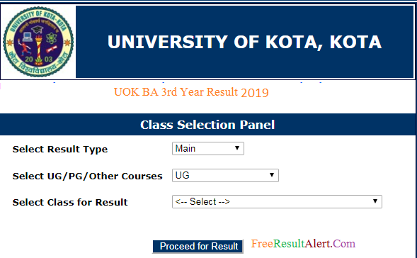 UOK BA 3rd Year Result 2019