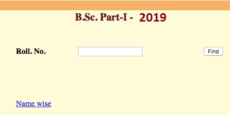 Uniraj BSC 1st Year Result 2019