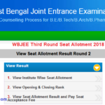 WBJEE Third Round Seat Allotment 2018