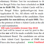 West Bengal Lady Constable Answer Key 2018