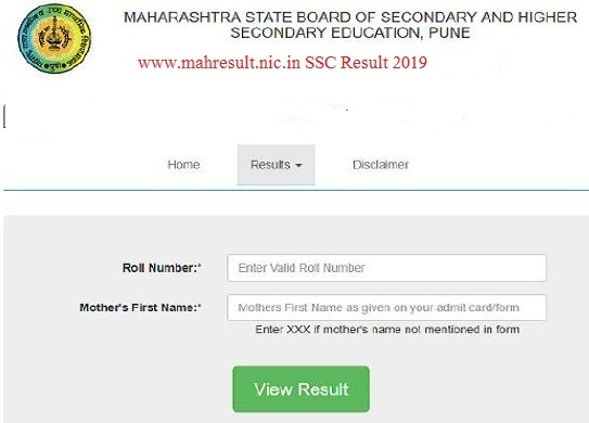 www.mahresult.nic.in SSC Result 2019
