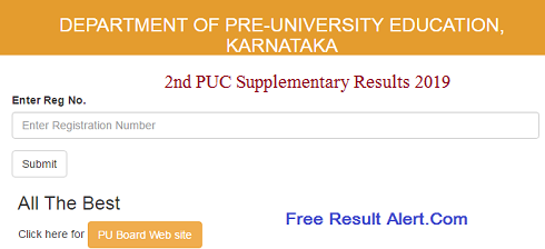 2nd PUC Supplementary Results 2019