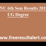 ANU 6th Sem Results 2019 UG Degree