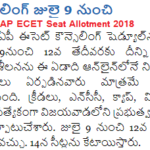 AP ECET Seat Allotment 2018