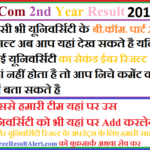 BCom 2nd Year Result 2019